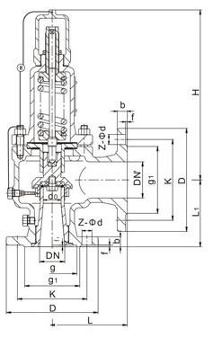AH42F、A42F液化石油气安全阀、安全回流阀
