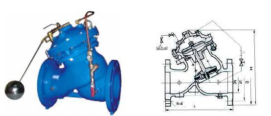 f745x-隔膜式遥控浮球阀_浮球阀,水泵控制阀,活塞式阀图片