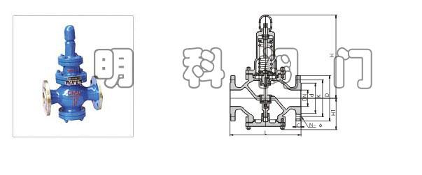 Y43H先导活塞式蒸汽减压阀属先导式减压阀,主要由主阀和导阀两部分组成。主阀主要由阀座、主阀盘、活塞、缸套、弹簧等零件组成,导阀则由阀座、阀瓣、膜片、弹簧等等零件组成。导阀通过调节弹簧压力设定出口压力,利用膜片传感出口压力变化,通过导阀启闭驱动活塞调节主阀节流零件的过流面积大小,实现减压稳压功能。主要用于城市建筑、工厂等的蒸汽管路系统中。 执行标准 设计规范:GB/T 12244 结构长度:GB/T 12250 法兰连接:JB/T 79 试验与检验:GB/T 12245 产品标识:GB/T 12220&l