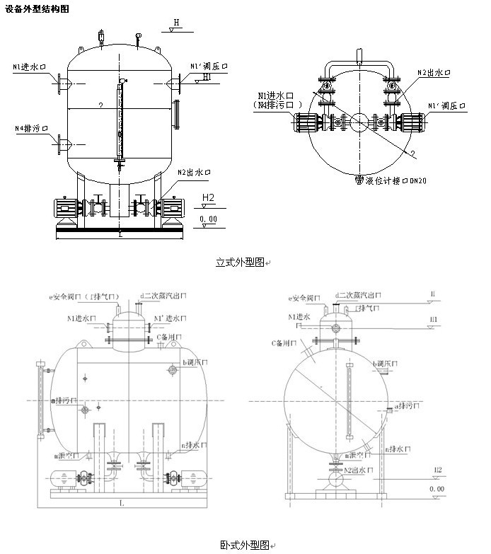 卧式水罐结构图