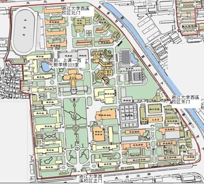 西溪校区手绘地图