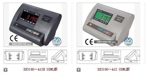 上海耀华xk3190-a12e电子磅秤仪表英文说明书