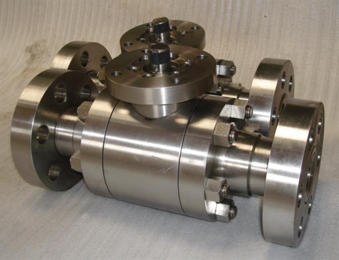 Q41F-320P-不锈钢高压法兰球阀