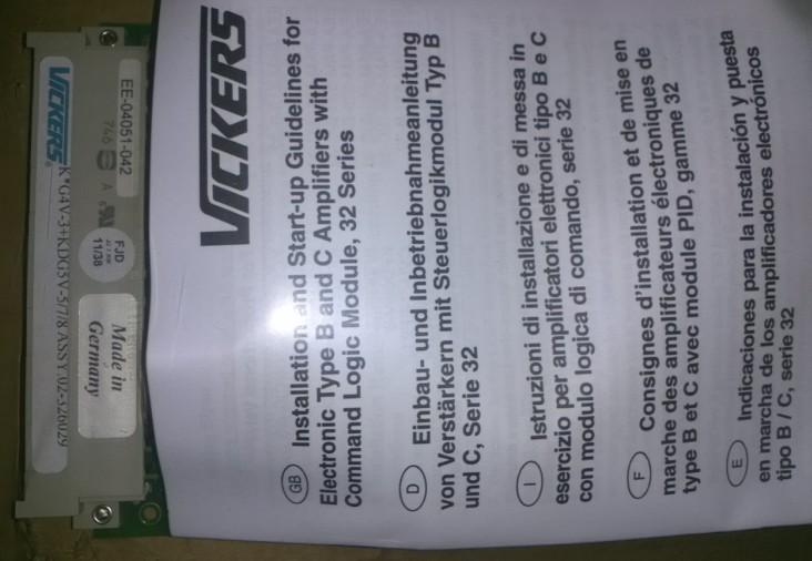 到货全新美国vickers放大器ww-04051-042现货
