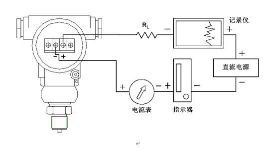 电压力表的接线电路图