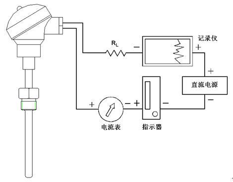 温度传感器(变送器)电气接线图