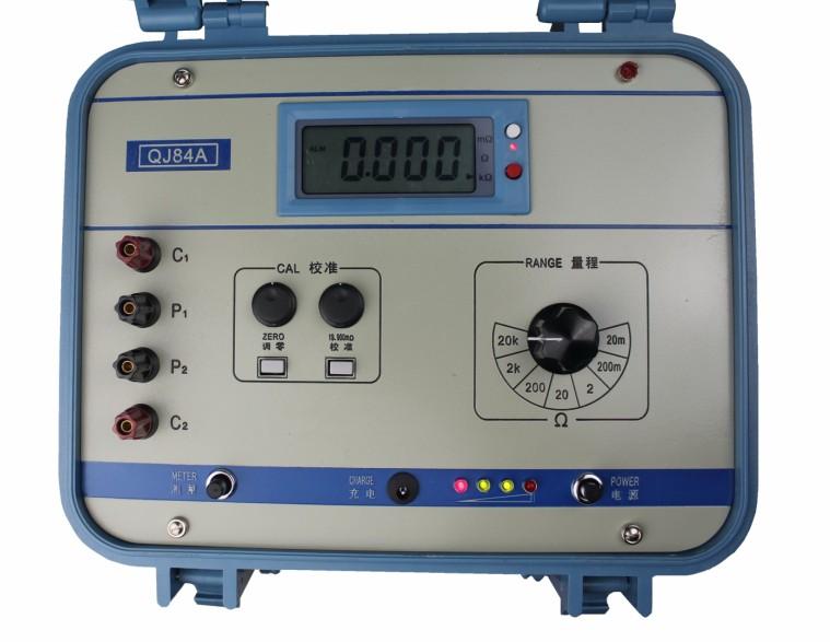 4采用新颖半桥电路,用精密电阻作基准,故电桥的测量精度,温度系