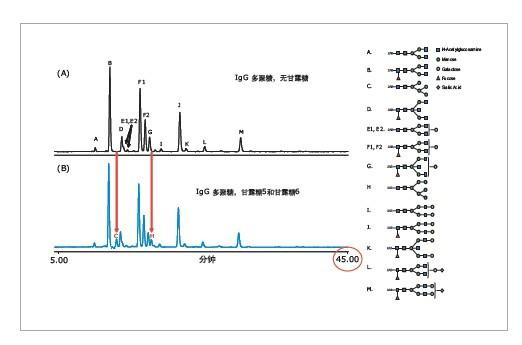 使用uplc荧光/质谱法分析2a标记的多聚糖混合物