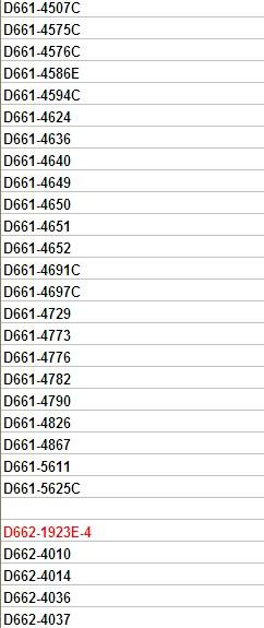 moog液压阀常用型号表穆格图片