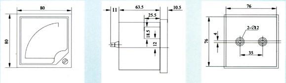 6l2-6l2-kw mw三相有功功率表 千瓦表 兆瓦表