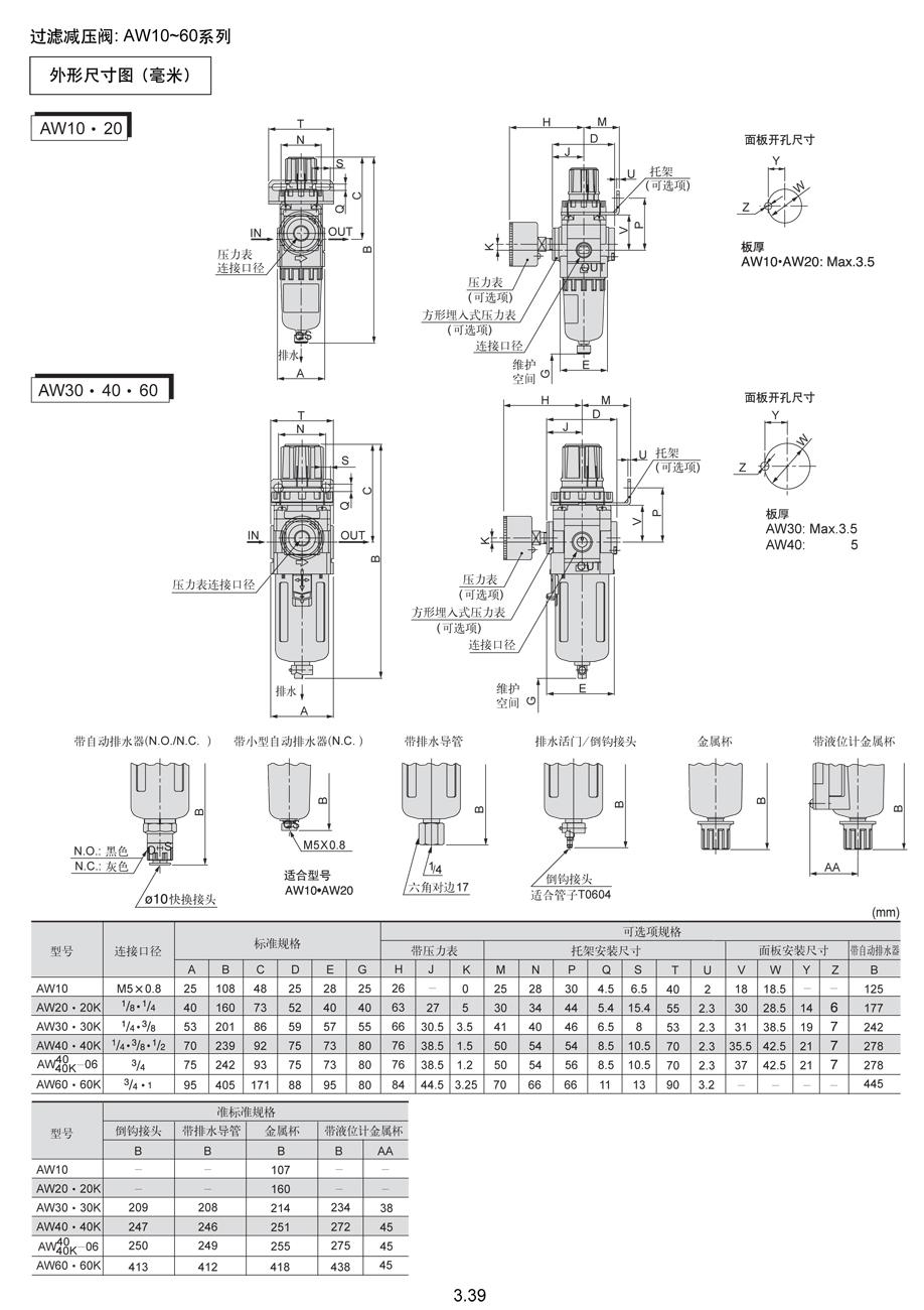 aw40-03bg-6现货日本smc空气过滤减压阀-上海自动化图片