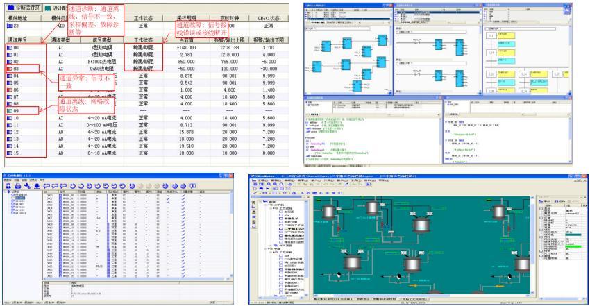 UW500DCS集散控制系统系统开放: 遵循IEC 61131-3国际组态语言标准,实现功能块图FBD(Functional Block Diagram)、梯形图LD(Ladder Diagram)、SFC、结构化文本ST(Structured Text)、IL五种风格迥异的算法组态方式,保持标准灵活多变特质的同时,实现算法的多方位转化、子算法模块概念、算法图元绑定、在线编译仿真和逐点式离线/在线调式,同时提供接口支持第三方算法接入; 开放式体系架构,全面支持DDE、OPC、ODBC/SQL、OLE D