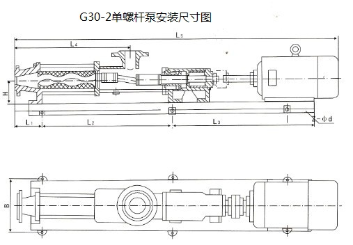 g30-2单螺杆泵安装尺寸图|fg30-1不锈钢螺杆泵价格
