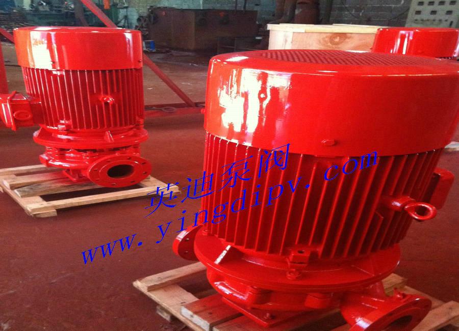 XBD-(I)立式管道消防泵--安装说明: 1、安装时管路重量不不应承受在泵上,否则易损环水泵; 2、泵瑟电机是整体结构,出厂时已由厂家校正,所以安装时无需调整,因此安装时十分方便; 3、安装水泵前应仔细检查泵流道内有无影响水泵运行的硬质物,(如石块、铁砂等)以免水泵运行时损还过流部件; 4、安装进必须拧紧地脚螺栓,且每间隔一事实上时段应对泵过行检查防止其松动,以免水泵起动时发生剧烈振动而影响的性能; 5、为了维修方便和使用安全,在泵的进出口管路上安装一只调节阀及在泵进出口附近安装一只压力表,对于高扬程,