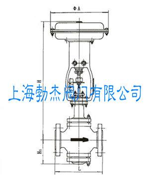 气动薄膜单座调节阀结构图