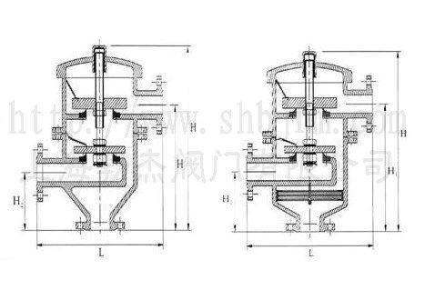 带双接管阻火呼吸阀结构图