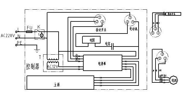 5吨双梁行车凸轮控制器电路图