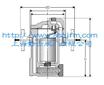 倒吊桶蒸汽疏水阀结构图图片