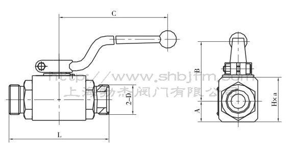 产品结构图及外螺纹连接尺寸
