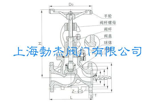 保温截止阀结构图