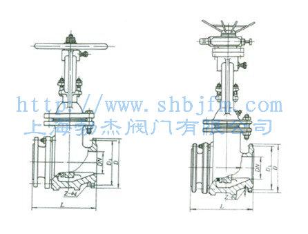排渣闸阀结构图