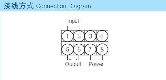 频率变送器的接线图 六,频率变送器的注意事项  1,连接线必须用屏蔽线